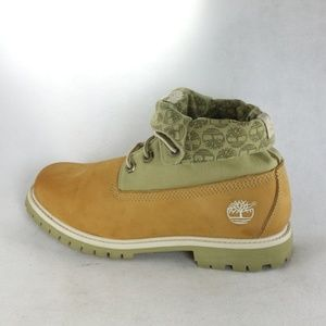 TIMBERLAND Womens Olive/Wheat Roll Top Boota